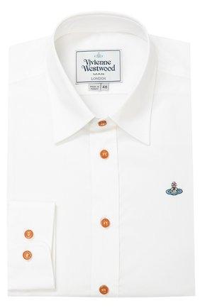 Хлопковая сорочка с воротником кент Vivienne Westwood белая | Фото №1