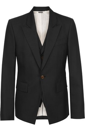 Шерстяной приталенный пиджак | Фото №1