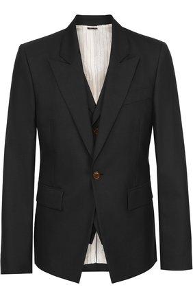 Шерстяной приталенный пиджак Vivienne Westwood темно-серый | Фото №1
