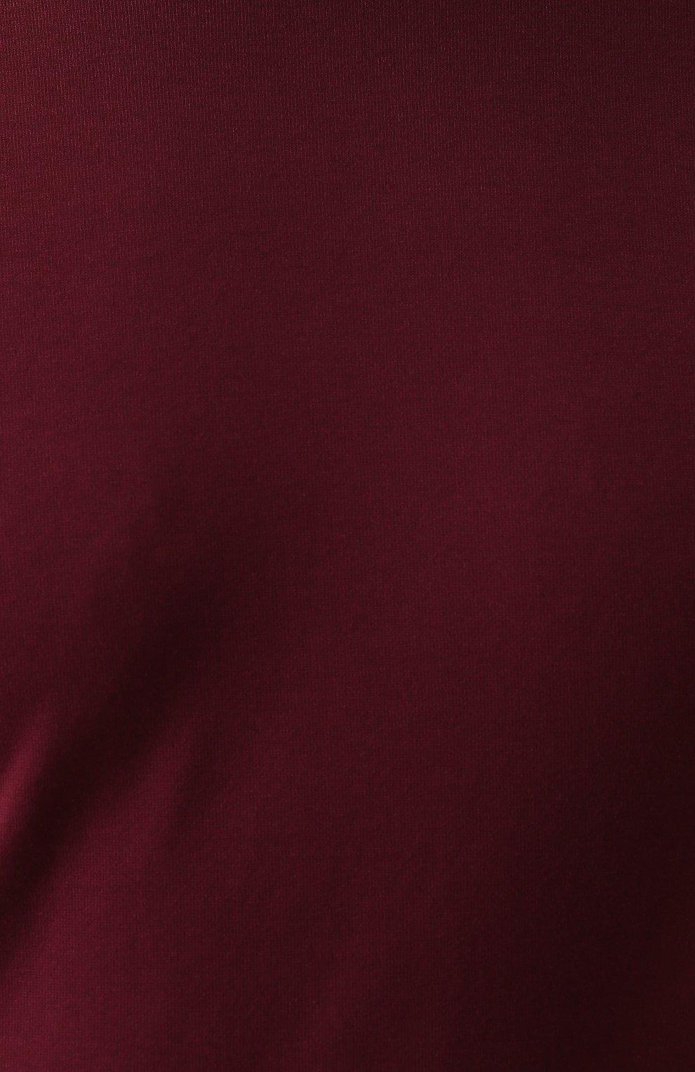 Хлопковая футболка с круглым вырезом Dolce & Gabbana бордовая | Фото №5