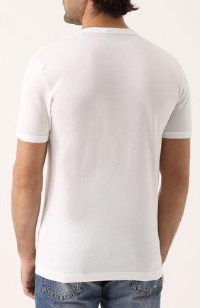 Хлопковая футболка с круглым вырезом | Фото №4