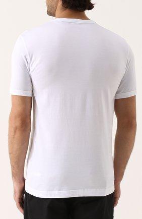 Хлопковая футболка с аппликацией Dolce & Gabbana белая | Фото №4