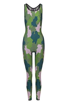 Спортивный комбинезон с камуфляжным принтом и открытой спиной Ultracor разноцветного цвета   Фото №1