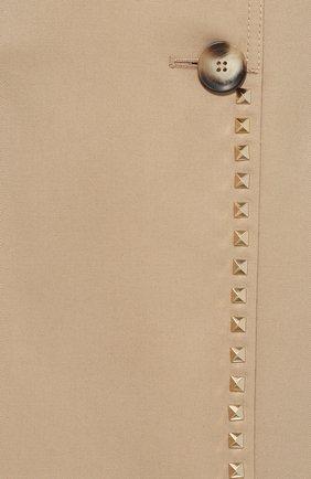Женский двубортный тренч с поясом и погонами VALENTINO бежевого цвета, арт. MB3CA169/2PQ   Фото 5