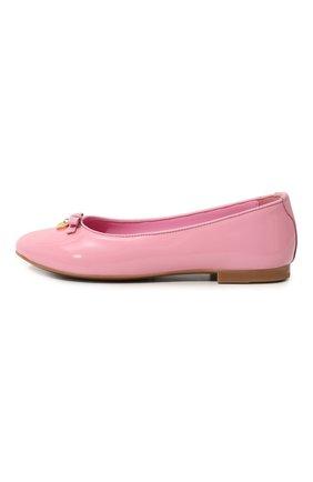 Детские лаковые балетки DOLCE & GABBANA розового цвета, арт. 0132/D10341/A1328/29-36 | Фото 2