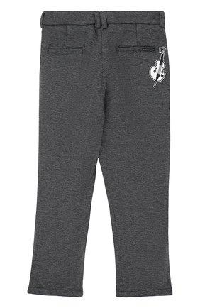 Хлопковые брюки прямого кроя с лампасами | Фото №2