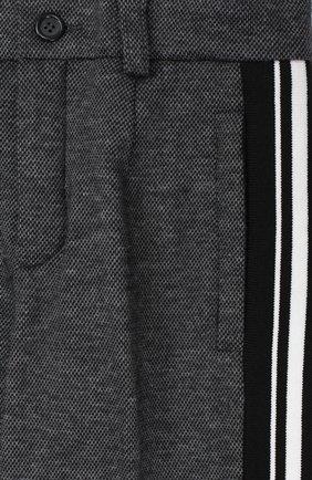 Хлопковые брюки прямого кроя с лампасами | Фото №3