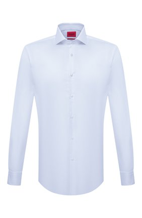 Мужская хлопковая сорочка HUGO голубого цвета, арт. 50289491 | Фото 1