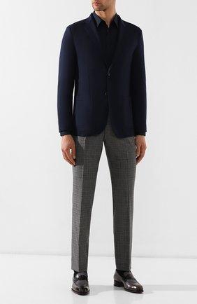 Мужская хлопковая сорочка HUGO темно-синего цвета, арт. 50289618 | Фото 2
