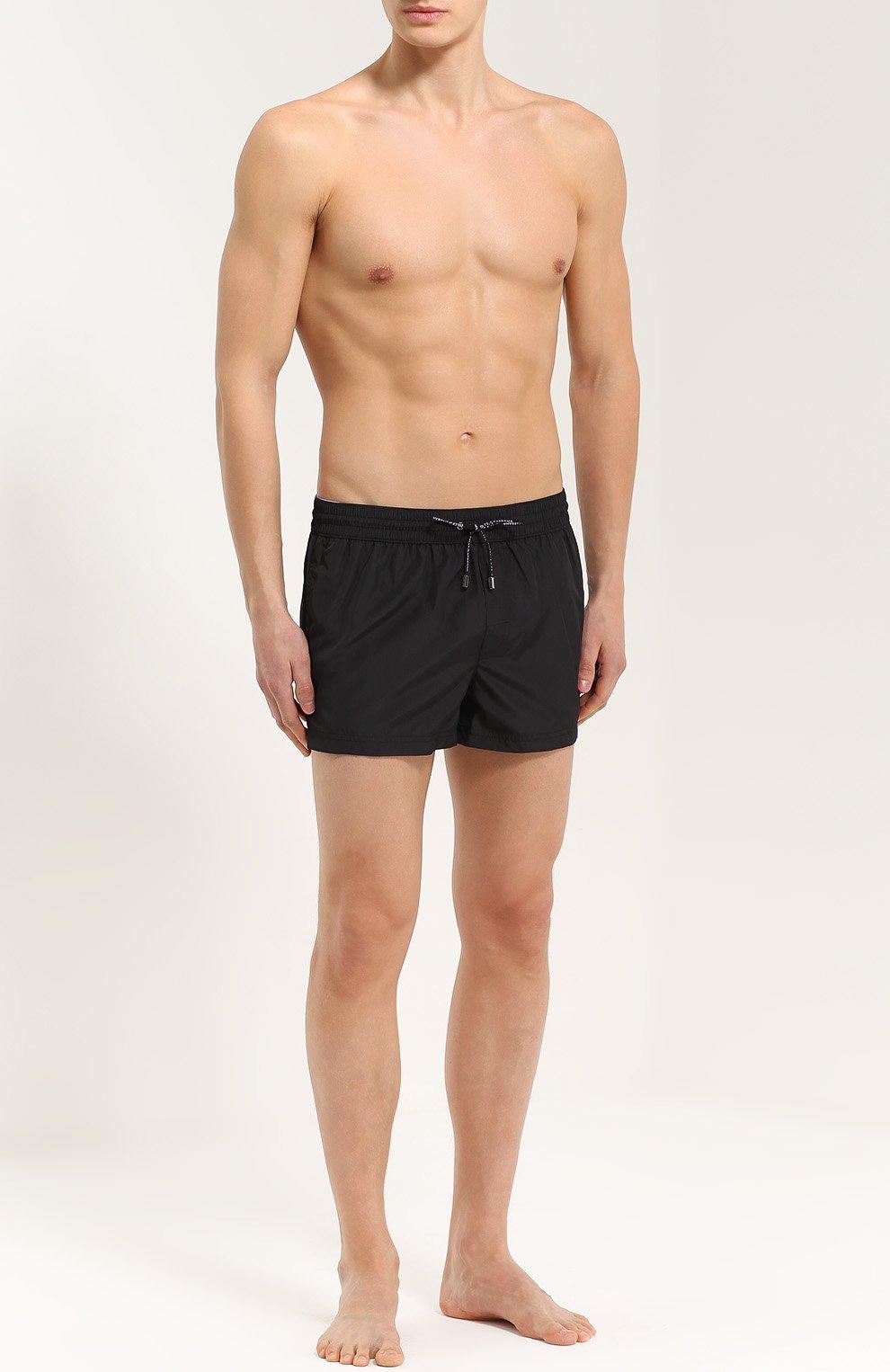 Плавки-шорты с карманами Dolce & Gabbana черные | Фото №2
