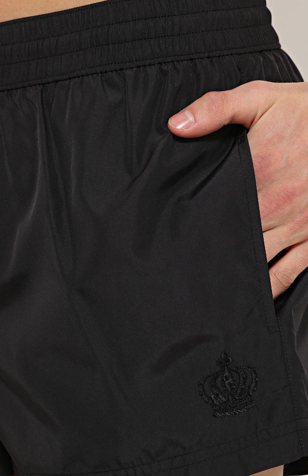 Плавки-шорты с карманами Dolce & Gabbana черные | Фото №5
