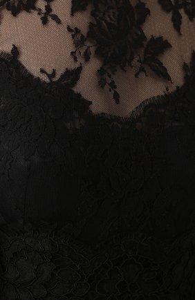 Приталенное кружевное платье с широкими рукавами | Фото №5