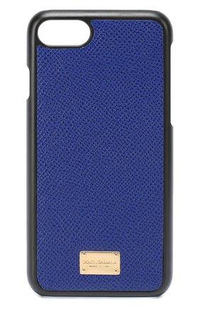 Кожаный чехол для iPhone 7 Dolce & Gabbana  | Фото №1