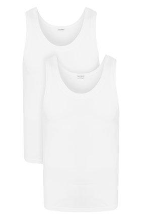 Комплект из двух хлопковых маек с круглым вырезом Dolce & Gabbana белая | Фото №1