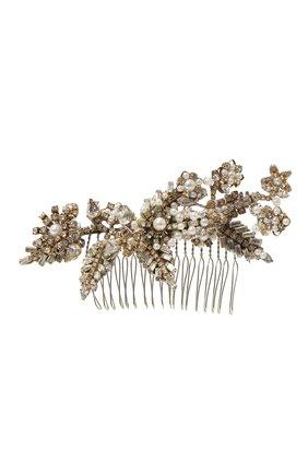 Гребень c жемчугом и кристаллами Erickson Beamon серебряного цвета | Фото №1