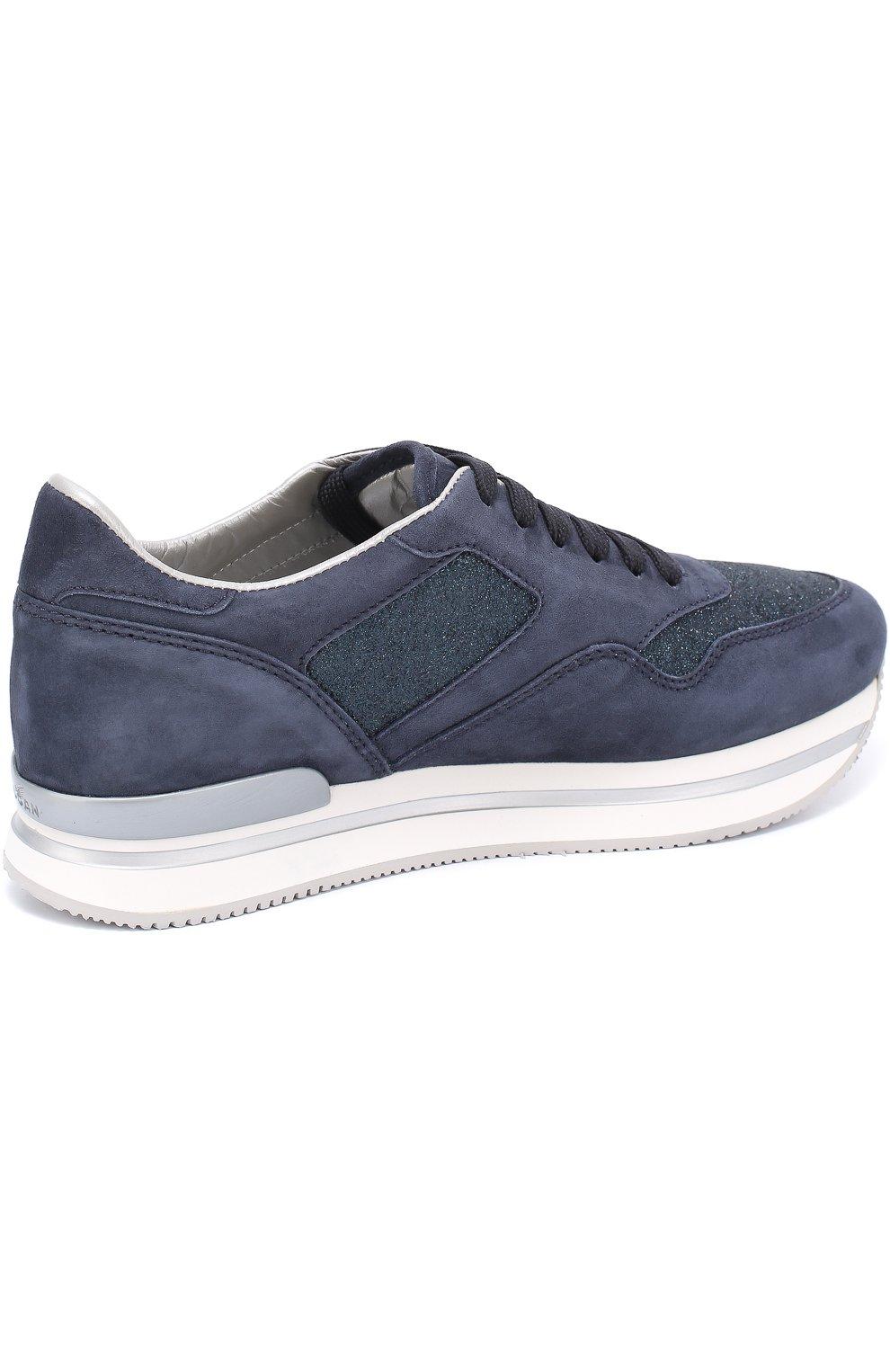 Замшевые кроссовки с вставками из текстиля | Фото №4