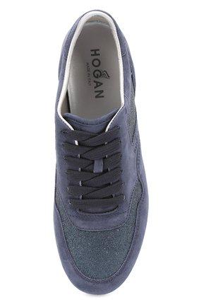 Замшевые кроссовки с вставками из текстиля | Фото №5