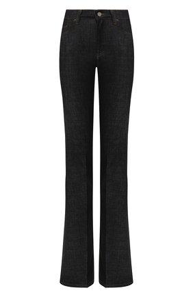 Расклешенные джинсы с контрастной прострочкой | Фото №1