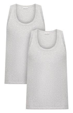 Мужская комплект из двух хлопковых маек с круглым вырезом DOLCE & GABBANA серого цвета, арт. 0121/N9A11J/00025 | Фото 1
