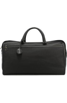 Текстильная дорожная сумка с отделкой из натуральной кожи | Фото №1