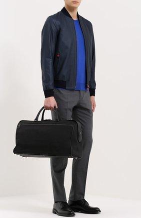 Текстильная дорожная сумка с отделкой из натуральной кожи | Фото №2