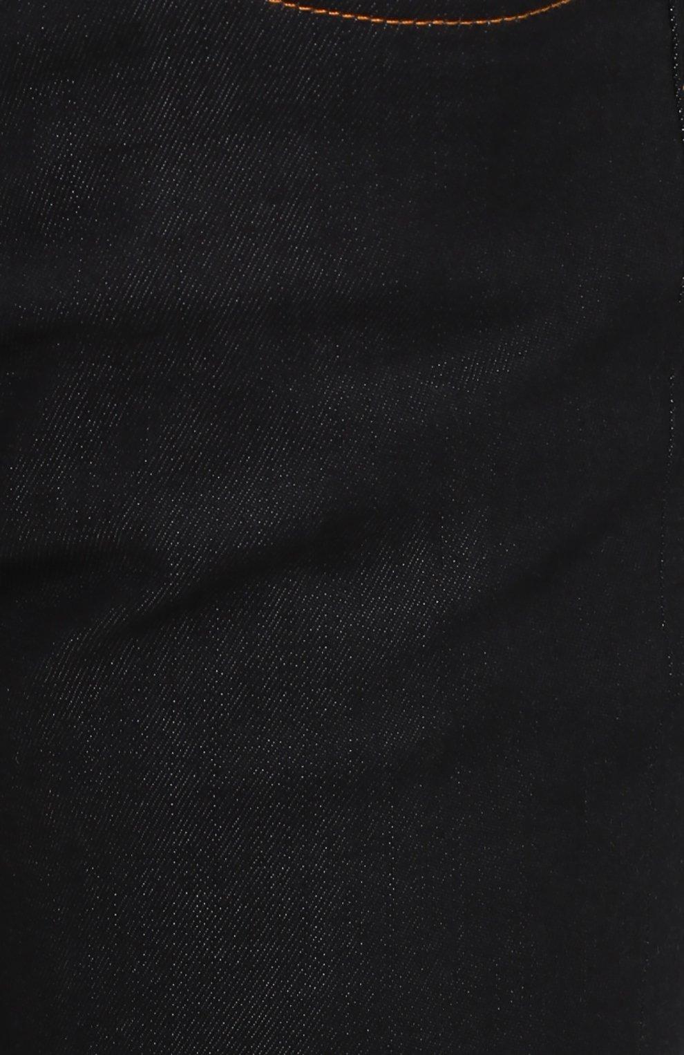 Джинсы прямого кроя с контрастной прострочкой Dolce & Gabbana темно-синие | Фото №5