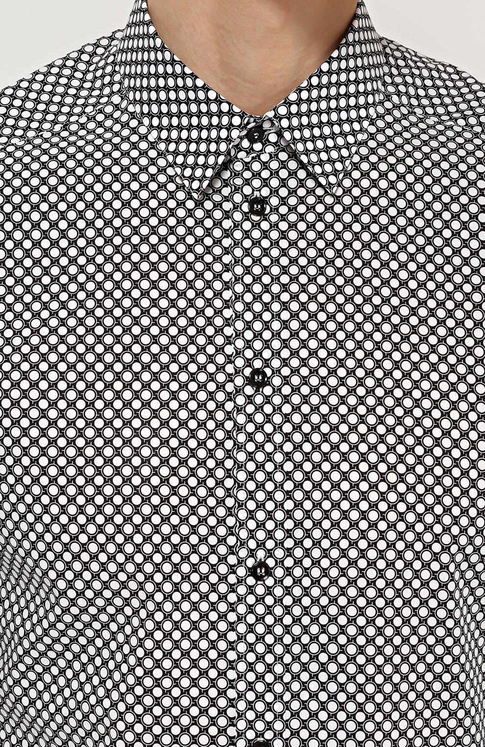 Хлопковая сорочка с принтом | Фото №5