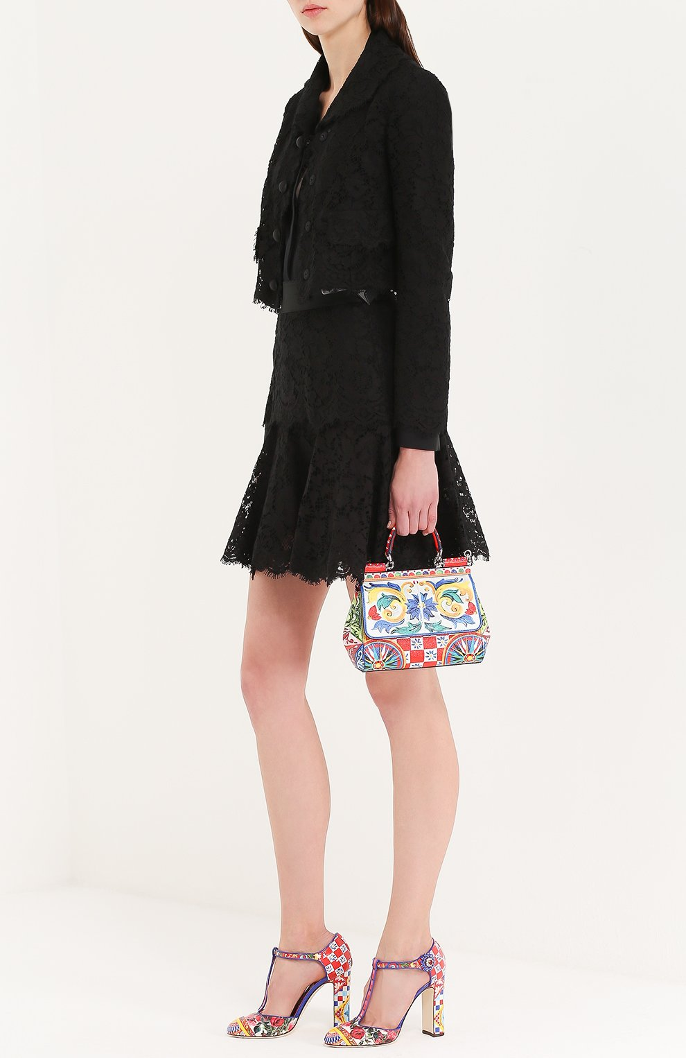 Туфли Vally с принтом на устойчивом каблуке Dolce & Gabbana разноцветные | Фото №2