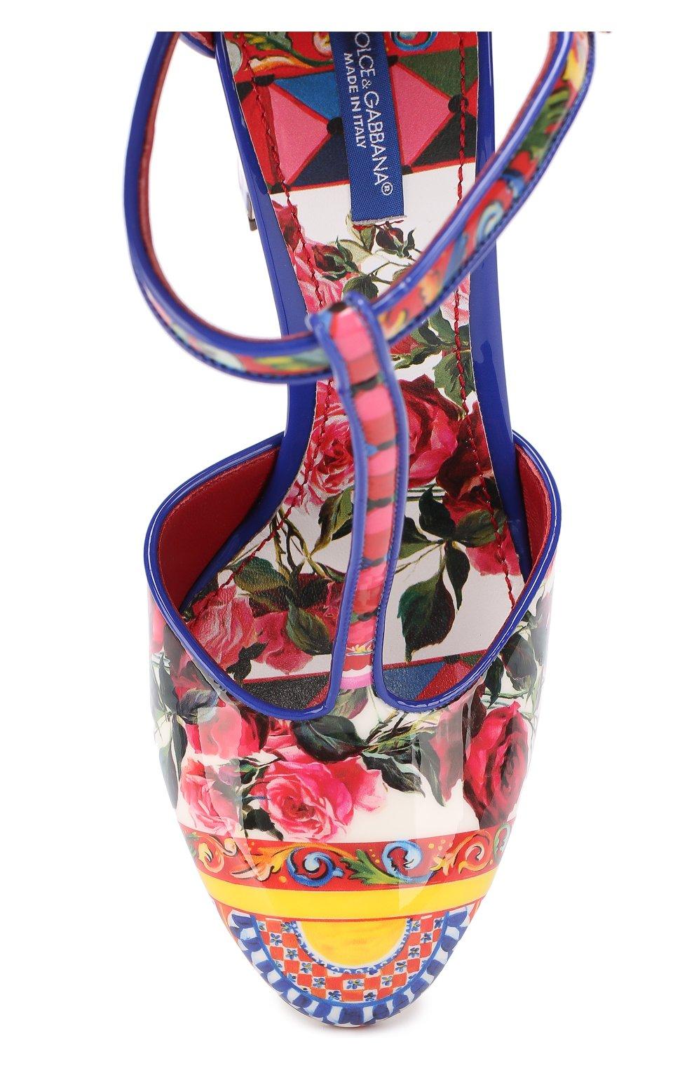 Туфли Vally с принтом на устойчивом каблуке Dolce & Gabbana разноцветные | Фото №5