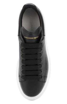 Кожаные кеды на массивной подошве Alexander McQueen черные | Фото №5