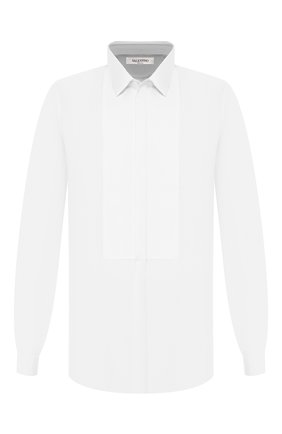 Мужская хлопковая сорочка VALENTINO белого цвета, арт. LV3ACR8C/3GU | Фото 1