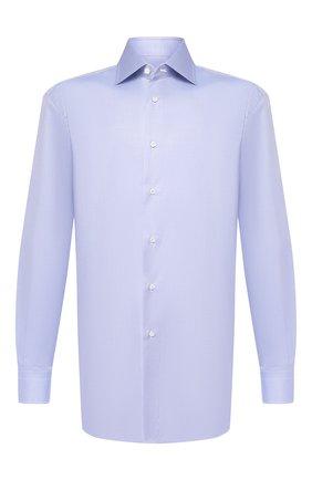 Мужская хлопковая сорочка BRIONI голубого цвета, арт. RCL9/PZ034 | Фото 1