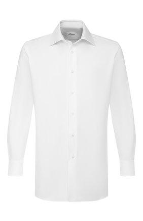 Мужская хлопковая сорочка BRIONI белого цвета, арт. RCL9/PZ063 | Фото 1