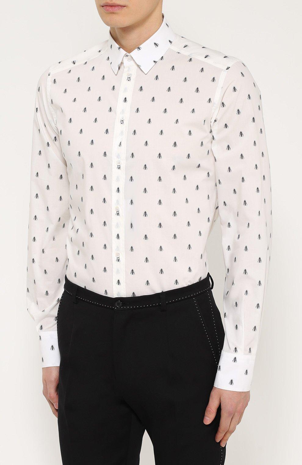 Хлопковая рубашка с принтом   Фото №3