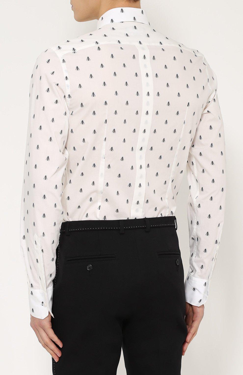 Хлопковая рубашка с принтом   Фото №4