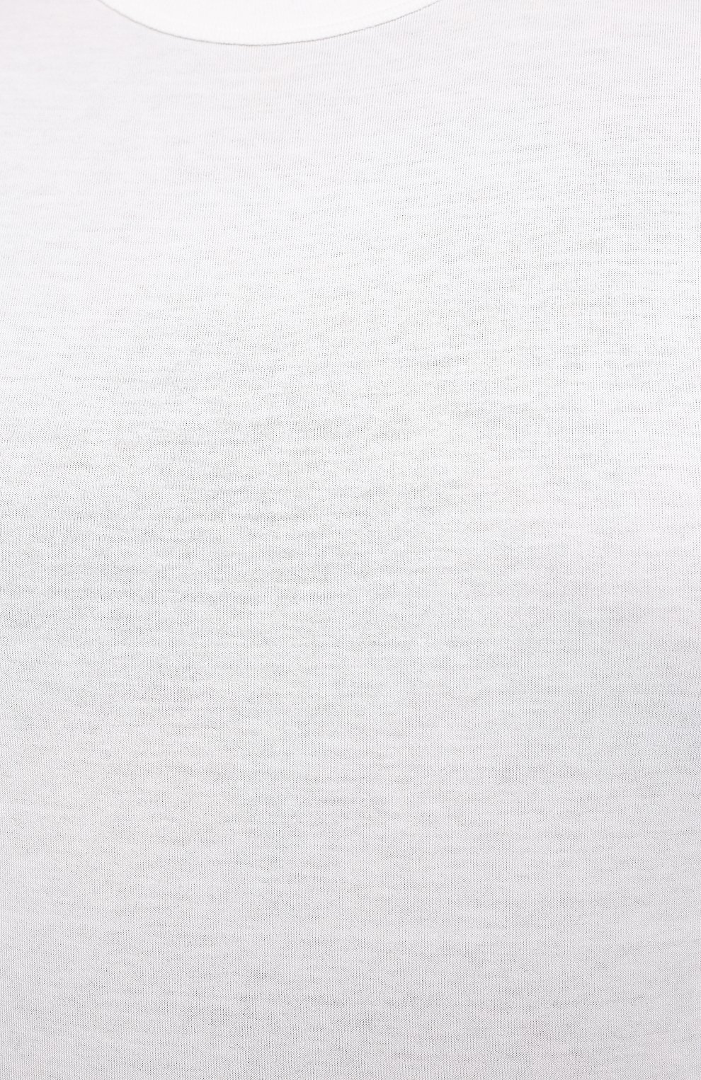 Хлопковый лонгслив с круглым вырезом | Фото №5