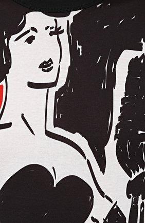Хлопковая футболка с принтом Dolce & Gabbana черная | Фото №5