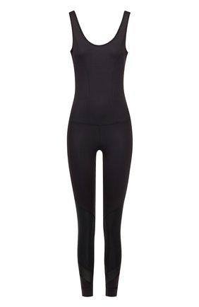 Спортивный комбинезон с открытой спиной Koral черного цвета | Фото №1
