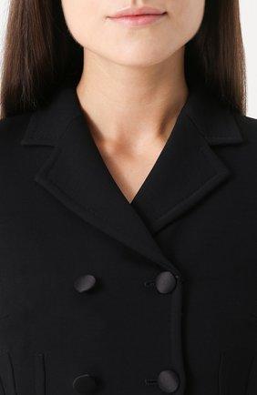 Укороченный двубортный жакет Dolce & Gabbana черный | Фото №5