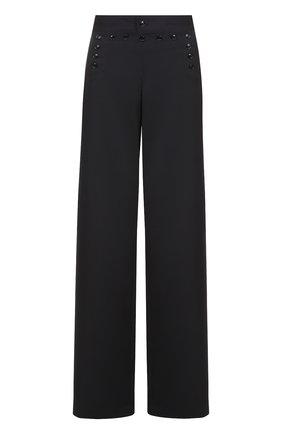 Шерстяные широкие брюки с декоративной шнуровкой