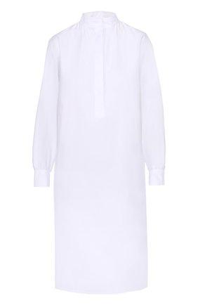 Платье-рубашка прямого кроя с воротником-стойкой Atlantique Ascoli белое | Фото №1