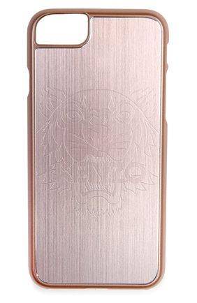 Мужской чехол для iphone 7 с отделкой металлом KENZO светло-розового цвета, арт. F66C0KIF7TAL | Фото 1