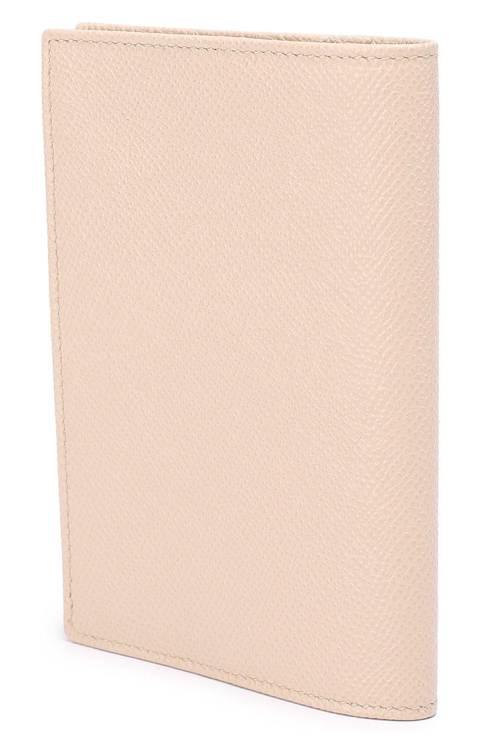 Кожаная обложка для документов Dolce & Gabbana бежевого цвета | Фото №2