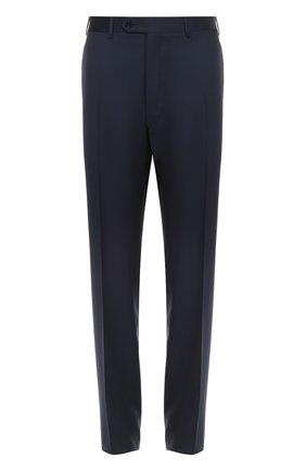Мужской классические шерстяные брюки  CANALI темно-синего цвета, арт. AS10326/78012 | Фото 1