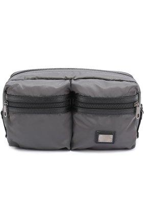 Поясная сумка Vulcano с отделкой из натуральной кожи | Фото №1