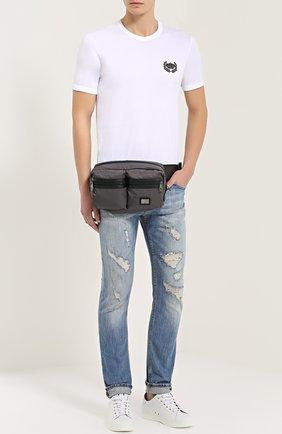 Поясная сумка Vulcano с отделкой из натуральной кожи | Фото №2