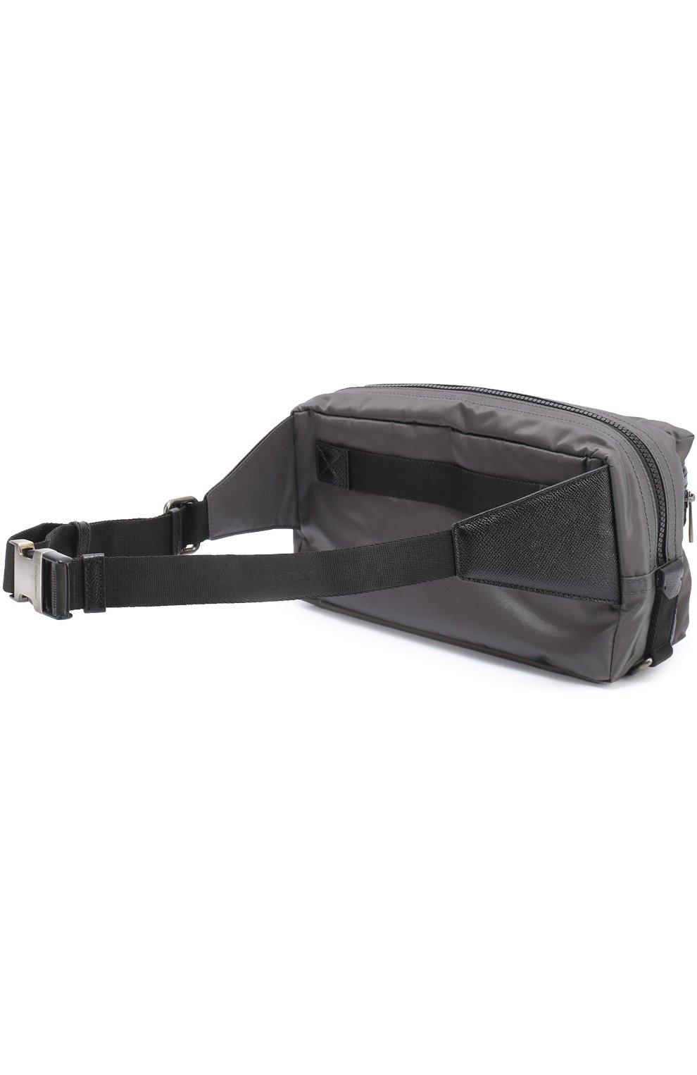 Поясная сумка Vulcano с отделкой из натуральной кожи | Фото №3