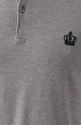 Хлопковое поло с вышивкой | Фото №5