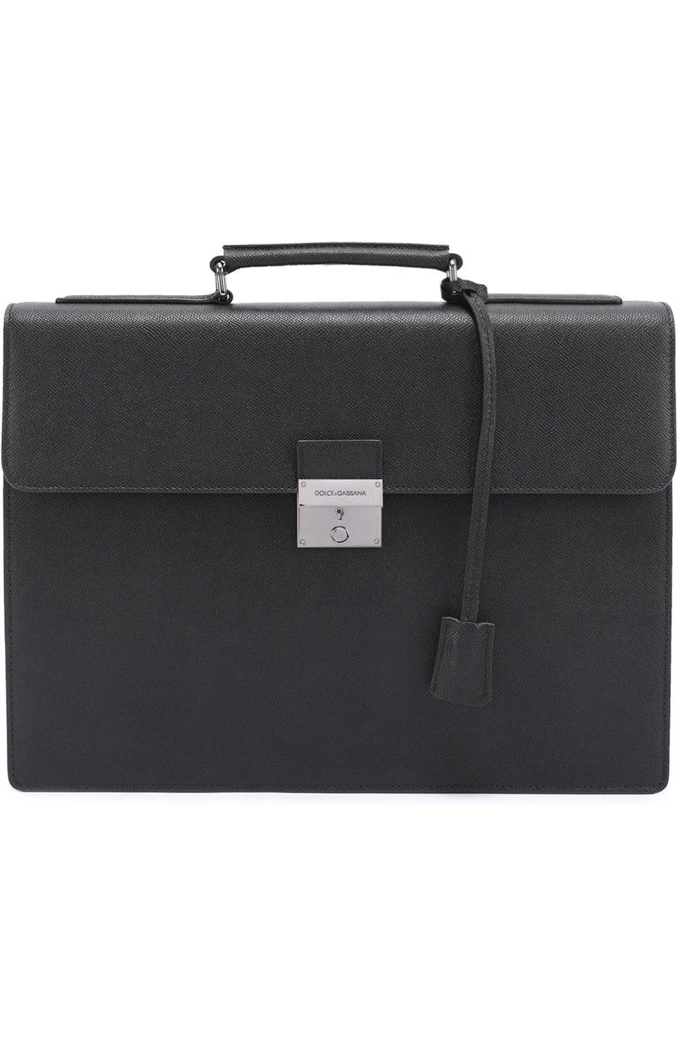 Кожаный портфель Ufficio с замком   Фото №1