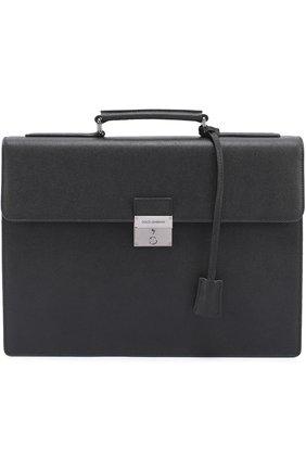 Кожаный портфель Ufficio с замком | Фото №1